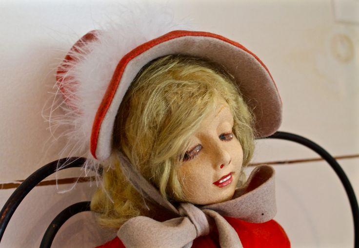 Poupée boudoir - Lenci  #poupées #poupée #antiques #antique #classique #collection #collectionneur #porcelaine #boudoir #lenci