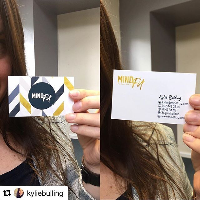 Yeeeeah exciting!! Thanks for the awesome design @victorianunnsbeauty #Repost @kyliebulling with @repostapp ・・・ When you're over here all digital and shit then you squeal when your little business cards arrive .... #mindfitnz @mindfitnz