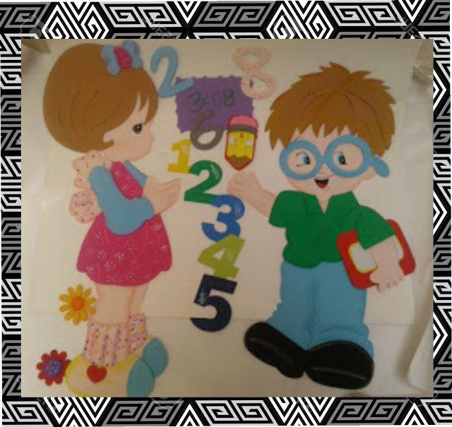 Horario de clases temática niño y niña productos escolares, todo elaborado en fomi fichas de materias  re-movibles para algún cambio de mat...
