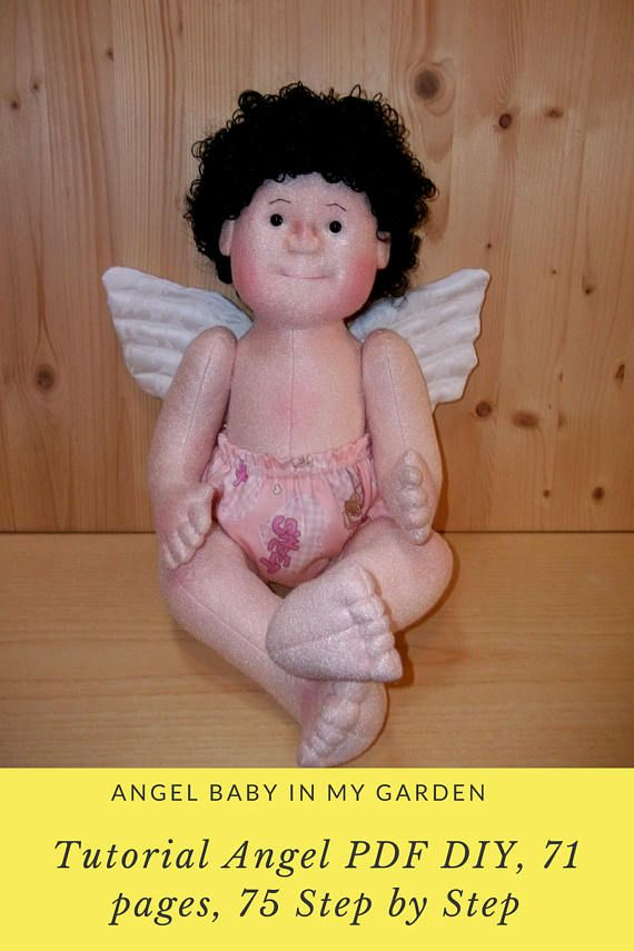 Tutorial Angel PDF DIY 71 pages 75 Step by Step Cloth doll