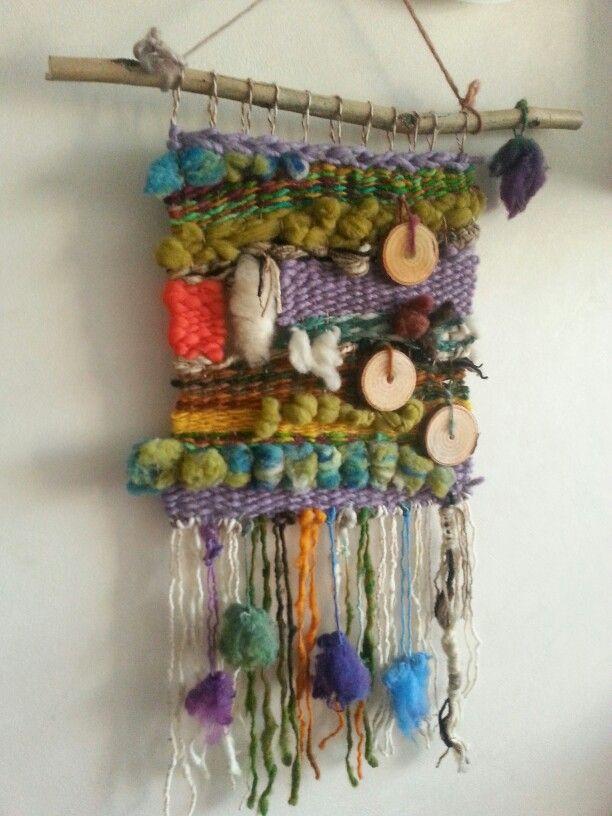 Telar decorativo lana de oveja y fieltro