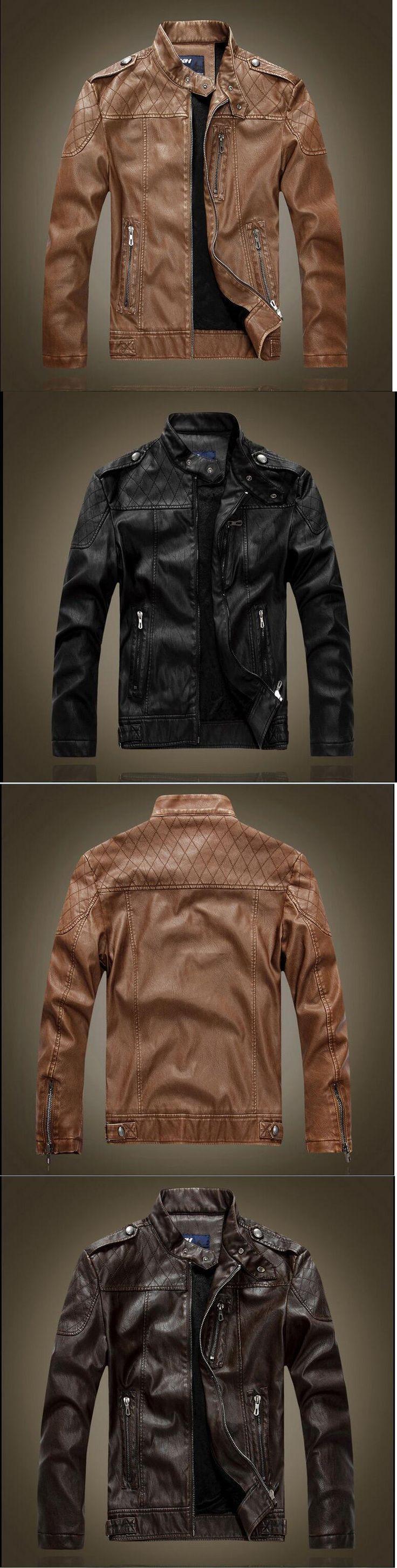 Men Coats And Jackets: 2017Men S Genuine Lambskin Leather Jacket Black Slim Fit Biker Motorcycle Jacket -> BUY IT NOW ONLY: $31.69 on eBay!