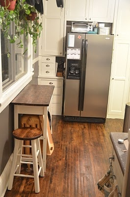 Smart idea cover the radiator with a work surface