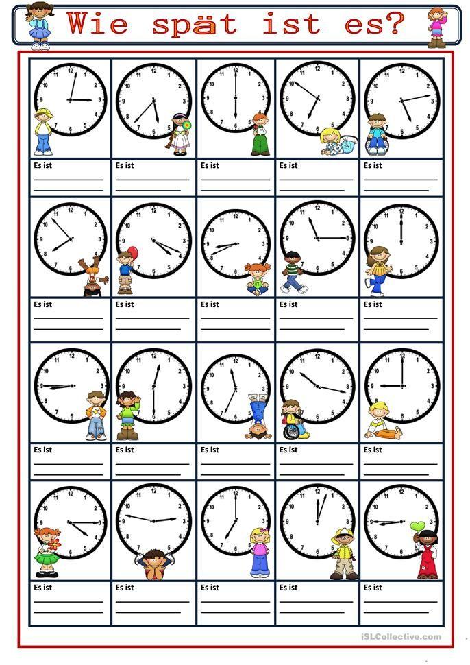 72 besten die Uhr / Uhrzeit lernen Bilder auf Pinterest | Uhrzeiten ...