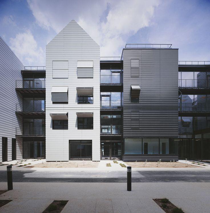 Elizabeth Naud et Luc Poux Architects - 160 unit home for dependent elderly people in Villejuif