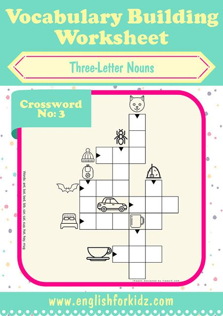 Printable esl worksheets, crossword puzzle to learn English three