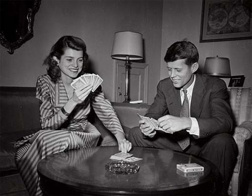 photo of JFK with his sister Eunice was taken 1949 in their home at 1400 34th Street NW in Georgetown. Jfk was a Congressman by then and Eunice was working for the Justice Dept....