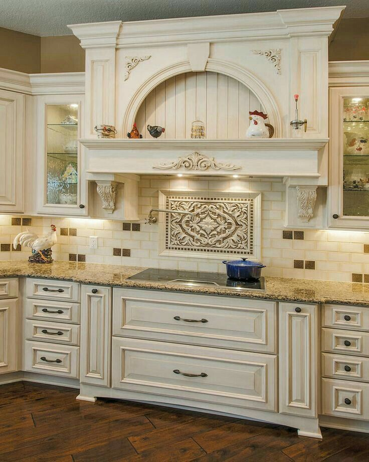 Mikes Country Kitchen Part - 38: Eye-catching Backsplash Contributes To An Elegant Kitchen Design