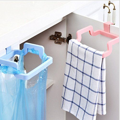 MosQuick Plastic Garbage Bag holder Dustbin Towel rack for Kitchen bathroom Office Schools Clinic- Mixed colour (1 pc) | Home and Kitchen Kitchen and Home Appliances Small Appliance Parts and Accessories Small Kitchen Appliances | Best... #SmallHomeAppliances #HomeAppliancesTheDoors