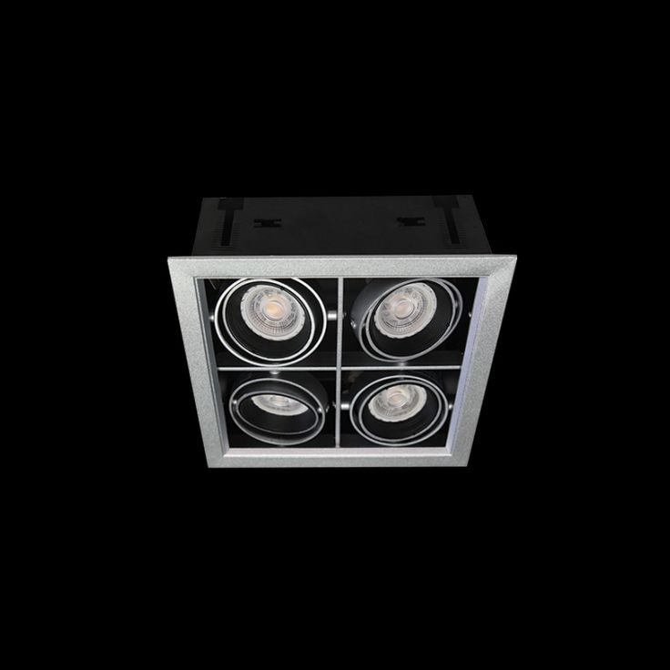 4x7W LED GU10 Square Down Light