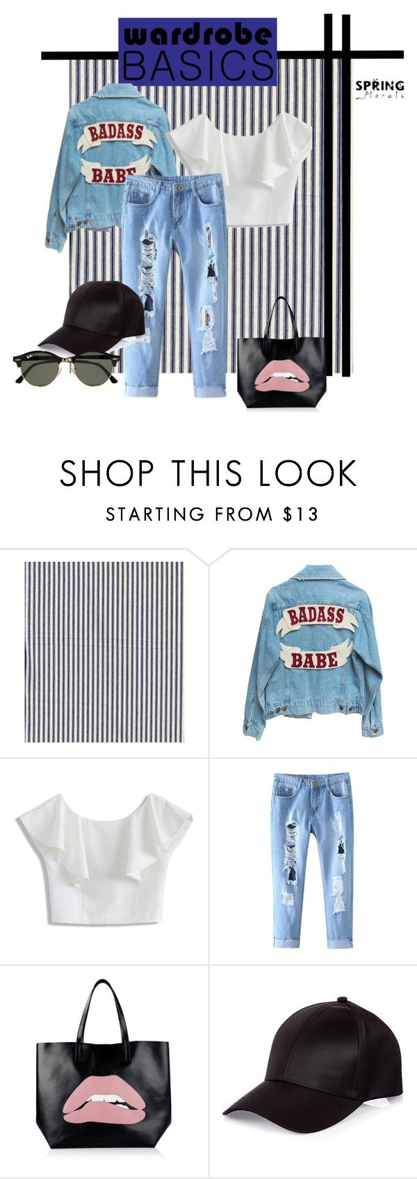 """kredsy2"" by justi-neczka on Polyvore featuring moda, Chicwish, RED Valentino, River Island i Ray-Ban"