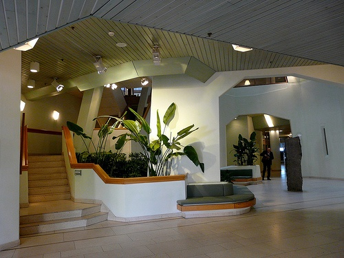 Eco-medical. ING bank building: There are plants in the building for human health.  Lots of natural light.