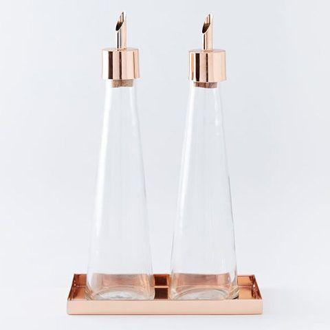 West Elm Copper Oil + Vinegar Set