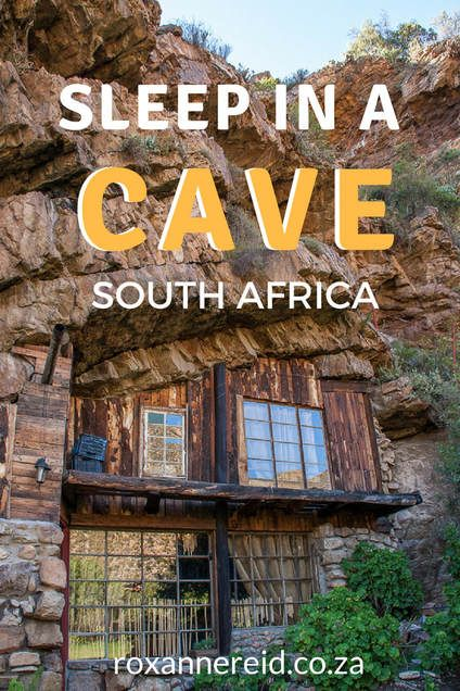 Would you like to sleep in a cave? You can at the Makkedaat caves in the Baviaanskloof in the Eastern Cape, South Africa. Save this pin to your board for later. #travel #caves #wheretostay