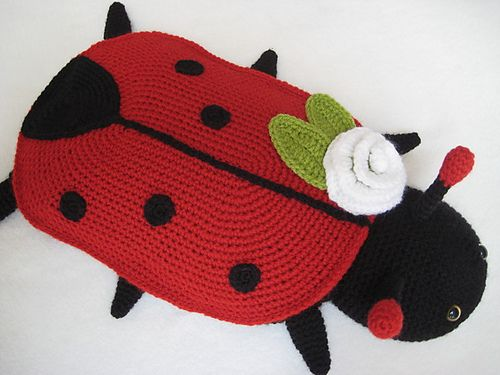 Hot water bottle cover ladybug animal pattern by millionbells bottle water bottles and animals - Ladybug watering can ...