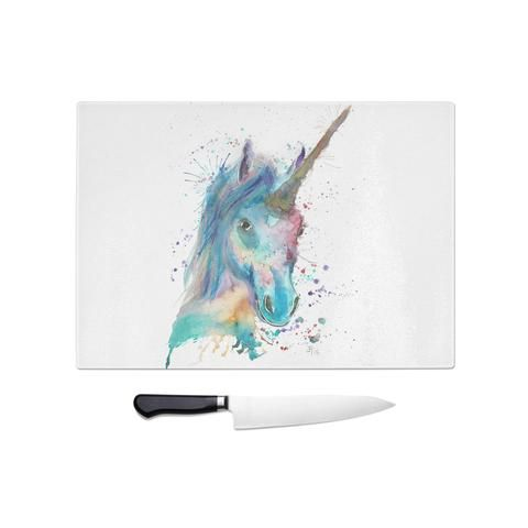 Marge Unicorn Glass Chopping Board