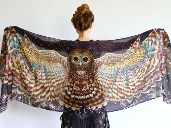 Etsy Spotlight: Owl Scarves For Your Inner Nature-Loving Hippie Goddess
