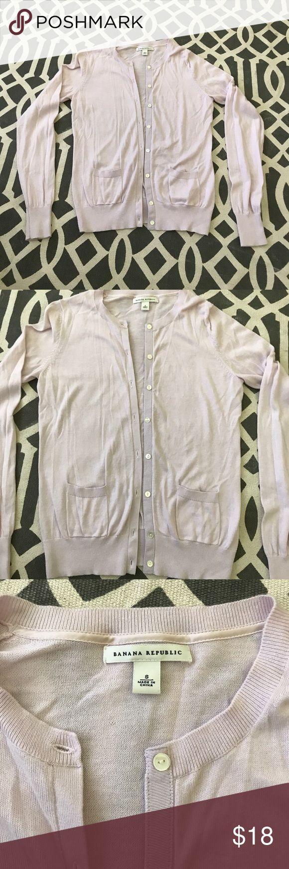 Banana republic light pink cardigan. Banana republic light pink cardigan, cotton/cashmere.  See you tag for fabric details. Size small. Banana Republic Sweaters Cardigans