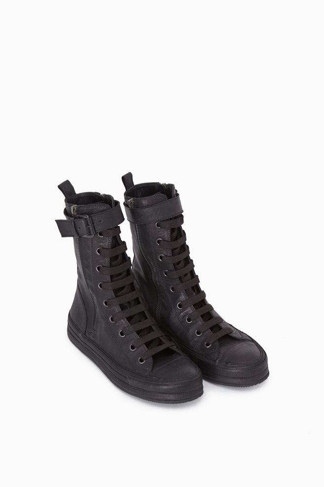 Totokaelo - Ann Demeulemeester Black Side Zip High Tops