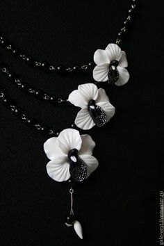 DIY orchid tutorial - good pictures but must translate. #Polymer #Clay #Tutorials