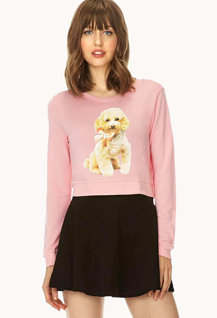 Playful Poodle Cropped Sweater | FOREVER21 - 2000066380