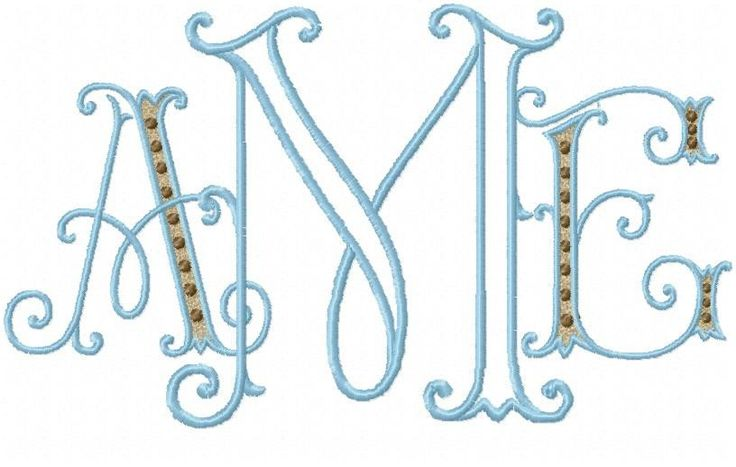 embroidery machine monogram