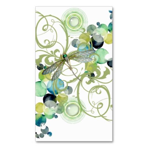 Cute dragonfly with abstract swirls and chic pearls business cards. Make your own business card with this great design. All you need is to add your info to this template. Click the image to try it out!