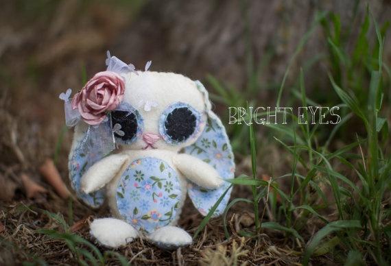 Lop Eared Bunny Plush by Brighteyesshop on Etsy