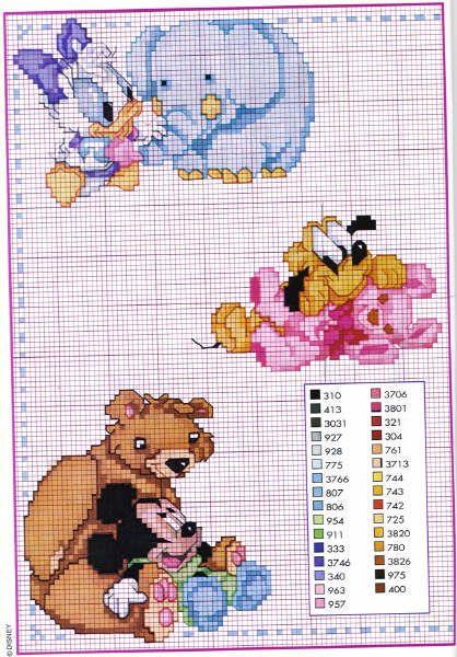 Schema punto croce Disney7