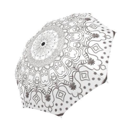 Black and white Large  umbrella Rain and sun