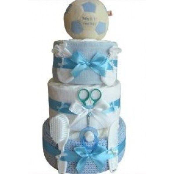 Baby Boy Gifts | Football Crazy Baby Boy Nappy Cake