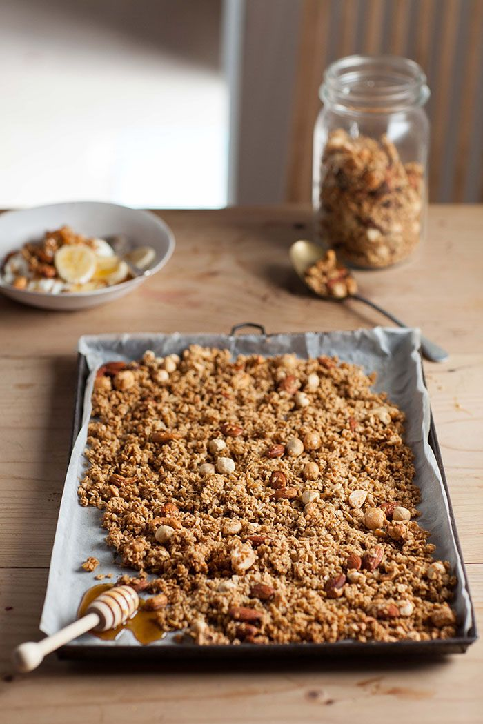 easy honey nut granola