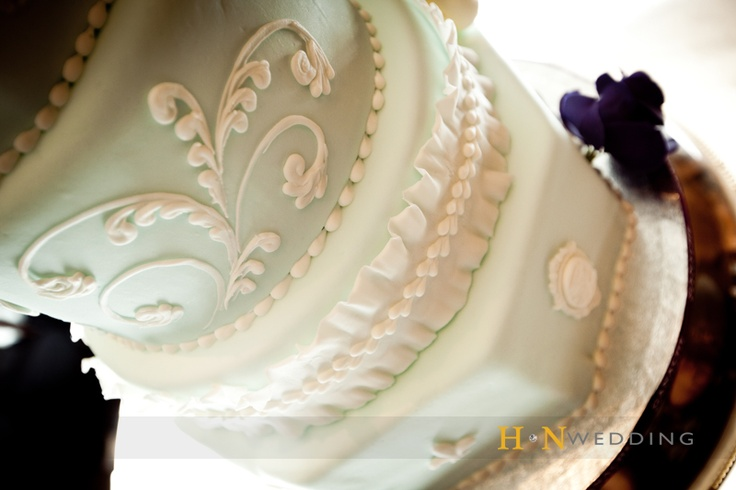 #Paisley #Wedding #Cake #PastelGreen #HNWedding #weddingday #www.hnwedding.com