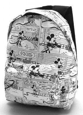 MICKEY MOUSE Vintage Comic Strip Full Size Backpack Canvas A4 Disney Retro NEW in Clothes, Shoes & Accessories, Women's Handbags   eBay