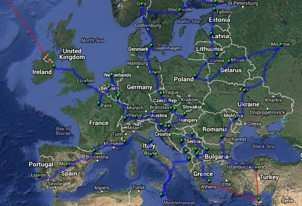 16. Shortest route to visiting each European capital. @Akshita Canchi ...lets do this together