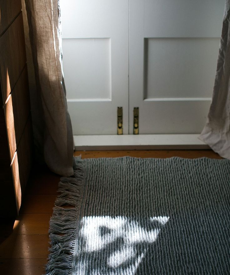 The Ribbed Wool Rug is entirely hand woven by skilled artisans in India. It is made from wool and viscose blend, guaranteed to add depth and character to your space. | huntingforgeorge.com