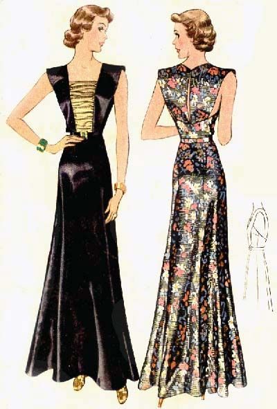 McCall 9466   1937 Evening Dress (after Lucile Paray)