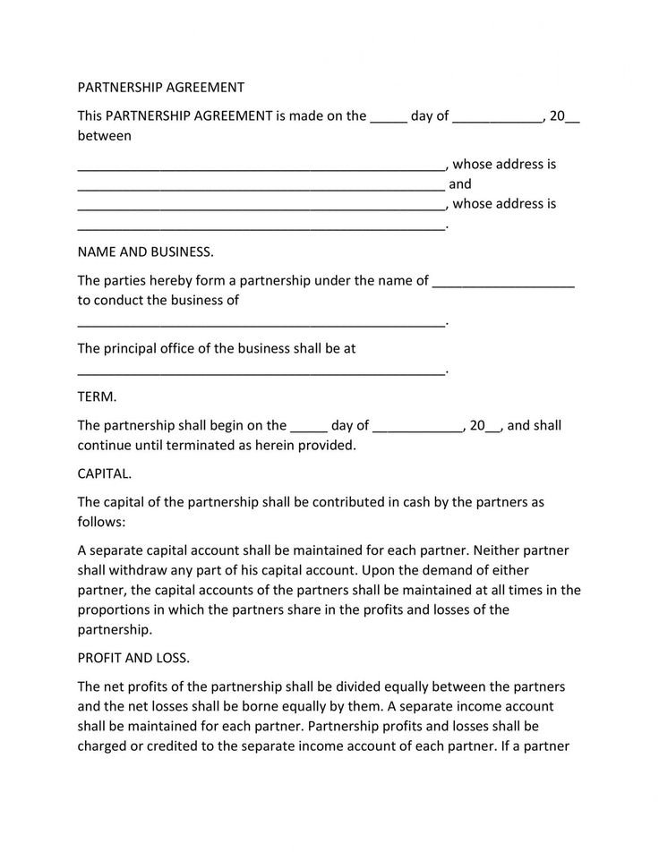 Browse Our Image of Business Ownership Agreement Template