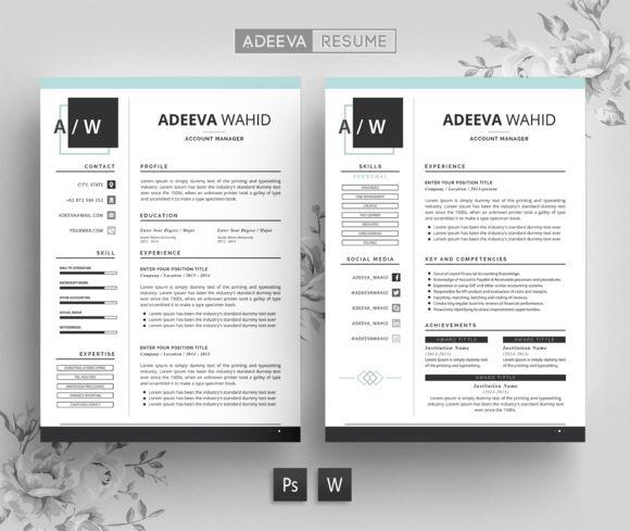 Simple Resume Template Wahid by AdeevaResume on @creativemarket