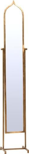 Standing Mirror FEZ Flat-Polished Brass New Swivel DT-70