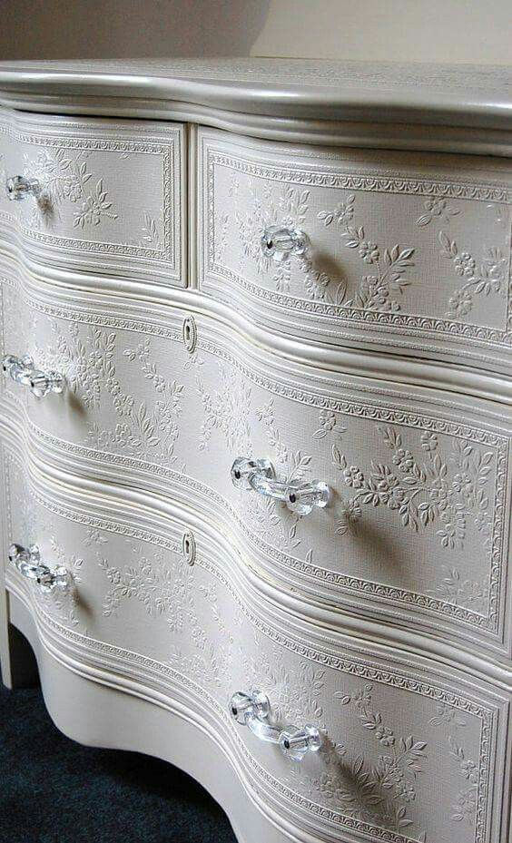 Wallpaper drawer fronts