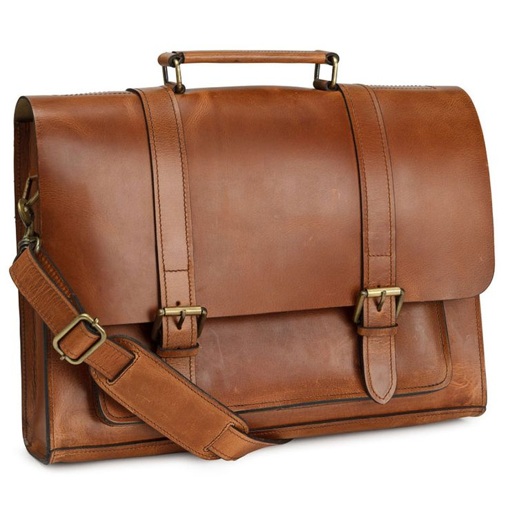 Collegiate leather bag.