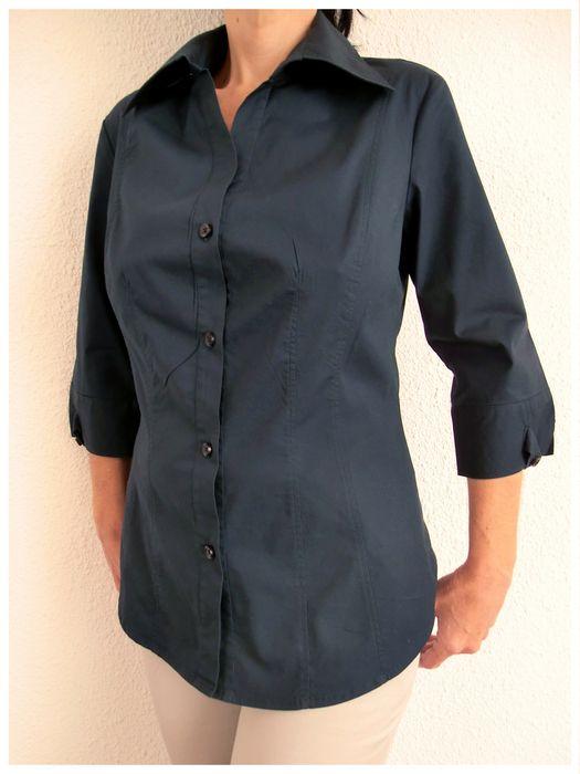 Bonita camisa Benetton manga 3/4 marca #Benetton. #Fresca y muy #comoda, entallada y femenina. 97% #algodón.