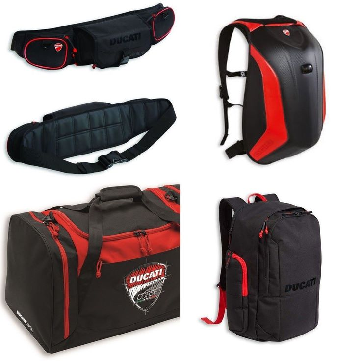 New in! Fantastic luggage by Ducati prices ranging from 49-149 Well made and practical :) smcbikes.com 01142525454