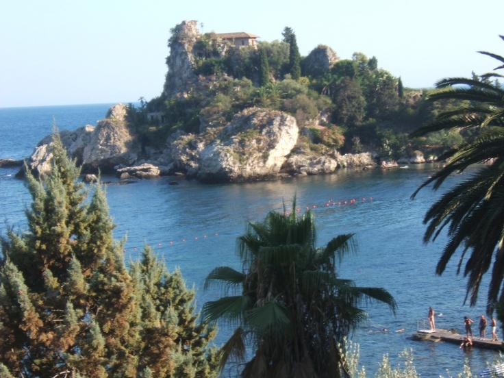 Isola bella a Taormina (Sicilia)