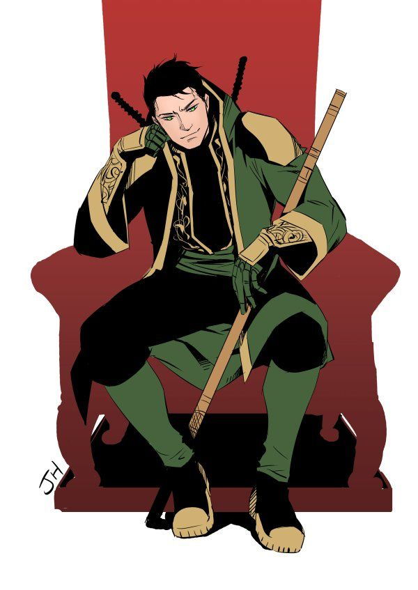 Damian Wayne- son of Batman  and grandson of the Demon