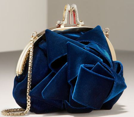 Christian Louboutin Velvet Purse -- look at the closure! …