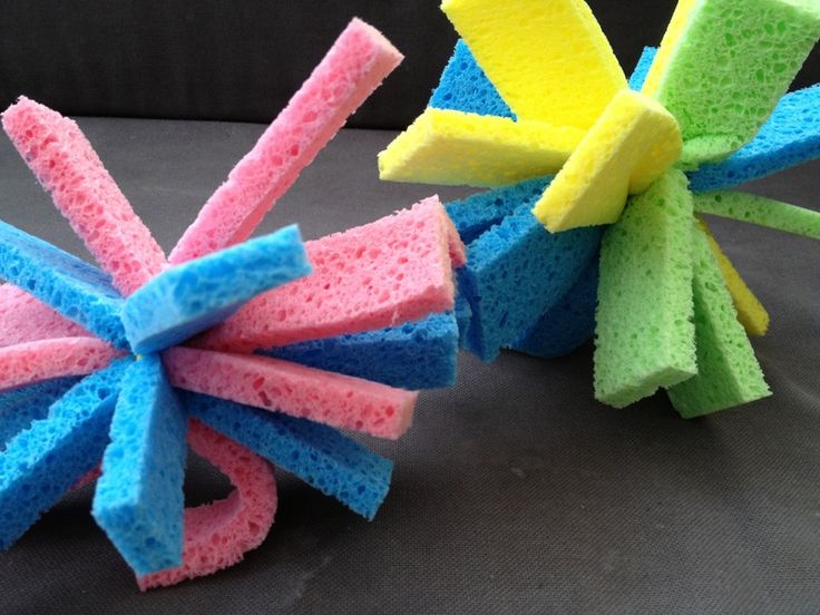 A hot summer is never guaranteed in England but when you get it, you make the most of it. These little sponge water bombs are cheap and easy to make and create hours of fun on a hot sunny day. It's also a great way to practise throwing and catching skills.