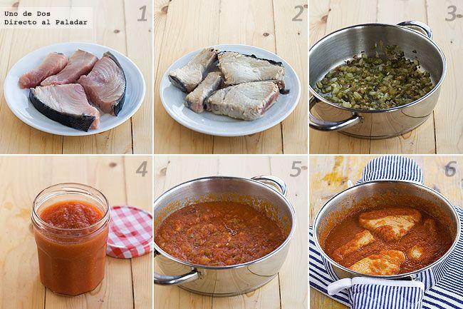 Filete de pescado con salsa de tomate