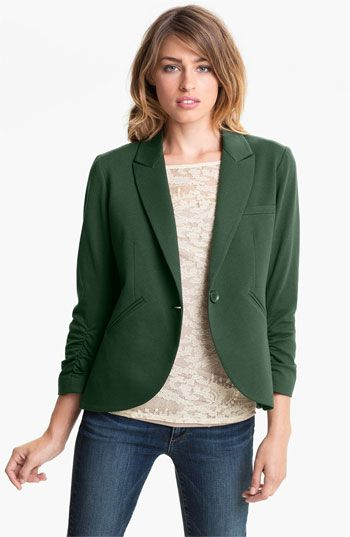 Green Blazer Women Photo Album - Reikian